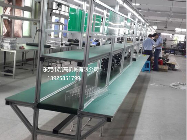 东莞双边长台板工作台皮带生产线