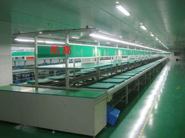 音箱组装线生产车间