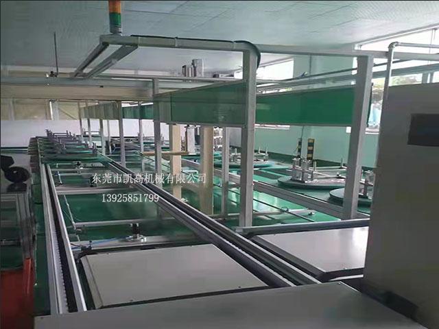 双层工装板平面循环组装线 倍速链装配线